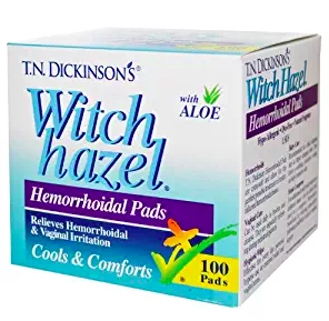 Witch Hazel Hemorrhoidal Pads